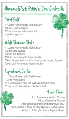 St. Patrick's Day Drinks | My Baking Addiction