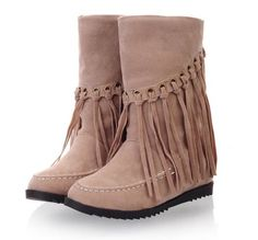 [$14.47]Winter boots for women fashion comfortable shoes QZ-CY912 rice