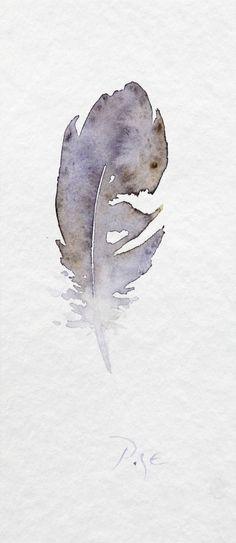 "Saatchi Art Artist Igor Pose; Painting, ""Little Feather"" #art #watercolour"