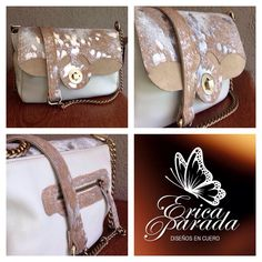 Cartera en cuero con pelo y transfer.  #ericaparada #carteras #cinturones #cuero #bags #leather