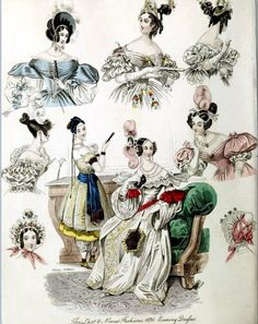 The World of Fashion and Continental Feuilletons 1836 Plate 13 | by CharmaineZoe's Marvelous Melange