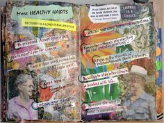 Excerpts from Mental Health Art Journal by Elaine Cambone, via Behance