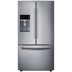 Samsung 22.5-cu ft Counter-Depth French Door Refrigerator with Ice Maker (Stainless Steel) ENERGY STAR