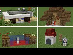Minecraft Dog House, Minecraft Mansion, Cute Minecraft Houses, Minecraft Room, Minecraft Plans, Minecraft House Designs, Amazing Minecraft, Minecraft Tutorial, Minecraft Blueprints