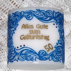 "Geburtstagskerze ""Ornament"" Ornament, Birthday Cake, Frame, Desserts, Food, Home Decor, Candles, Birth, Picture Frame"