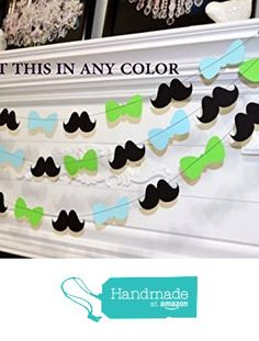 Bowtie baby shower garland, it's a boy party decorations, mustache bow tie garland, lime green baby blue garland, bowtie party decor from ANY OCCASION BANNERS AND GARLANDS https://www.amazon.com/dp/B01A084WWI/ref=hnd_sw_r_pi_dp_ahSXwb3VQFBYE #handmadeatamazon