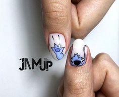 Make an original manicure for Valentine's Day - My Nails Aycrlic Nails, Nail Manicure, Cute Nails, Pretty Nails, Hair And Nails, Nail Polish, No Chip Nails, Disney Nails, Beautiful Nail Designs