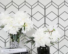 Simple Geometric Removable Wallpaper / Self Adhesive / Regular Wallpaper / Wall Mural /