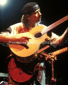 Guitarist Carlos Santana 8″x10″ Color Concert Photo