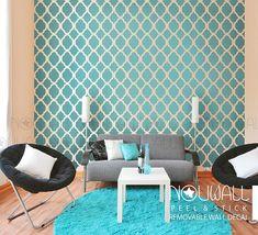 Elegante flor marroquí wallpaper recorte patrón pared Panel