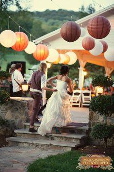 Paper Lanterns Wedding Decor