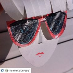 #Repost @helene_ducrocq  Helene & moi on #Chill #sunny #sunglasses #bangs #eyes #art #instaart #365sketches #pencils #illustration #doodle #doodleoftheday #illustragram #artwork #dailydrawing #paper #paperart #papercut #puppet #paperpuppet