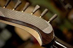Matsuda Guitars - Custom head stock back with Japanese kanji on metal, custom hand carved tuners.