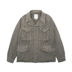 The Achse Jacket from Visvim has undergone a sulfur-dyed, damage process to give the jacket a slightly worn in effect. Made in Japan from super long staple cotton and lined with a soft cotton/linen blend fabric. Also features include four large front utility pockets with button fastening, and adjustable waistband.