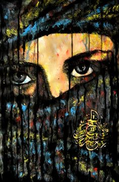 ARTFINDER: Arabian Nights by Alex Solodov - Watercolor painting inspired by beauty of Moroccan and Arabian women. In this painting I have used an especial Arabic calligraphy in the form of a tear. In e...