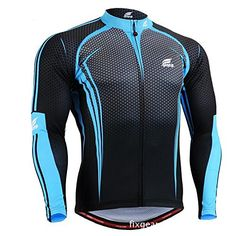 FIXGEAR Long Sleeve Cycling Jersey Breathable Quick Dry Cycling Clothing  Bicycle Jersey Size XXL     For more information 02e8fcc4a