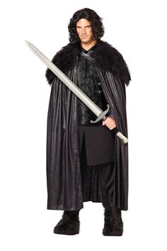 'Game of Thrones' costumes Jon Snow Image Credit: Spirit Halloween  via @AOL_Lifestyle Read more: http://www.aol.com/article/2014/12/19/an-easy-and-delicious-recipe-for-homemade-eggnog-chai-lattes/21119191/?a_dgi=aolshare_pinterest#fullscreen