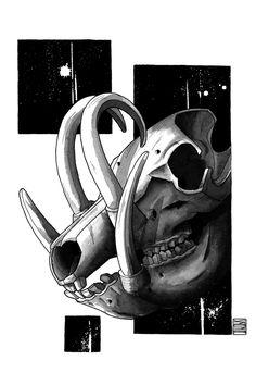 """Limited edition (10) token of Skeenee´s """"Pug Skeleton"""" available on www.makersplace.com. #cryptoArt #skeenee #cryptoartist #skull #skullart Sumi Ink, Anatomy Drawing, Ink Painting, Skull Art, Skeleton, Pugs, Renaissance, Digital Art, Pug"""