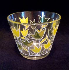 Culver Spring Tulip Ice Bucket c1970 by JaybirdFinds on Etsy