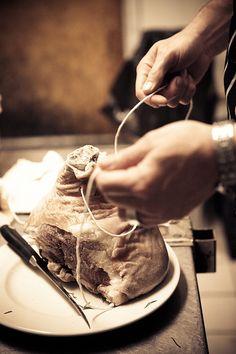 Local Prosciutto in Making. via Tartelette