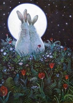 Share the joy Moonlight Magic by Richard Jesse Watson Source by roseskulls Fantasy Kunst, Fantasy Art, Bunny Love, Lapin Art, Bunny Art, Rabbit Art, Bunny Rabbit, Art And Illustration, Rabbit Illustration