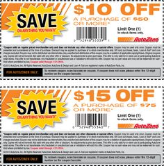 Pinned January 14th: $10 off $50 and more at Auto#Zone #coupon via The Coupons App