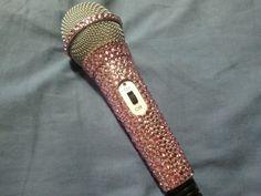 Pink Bling Rhinestone Microphone aka my dream with my ideal accessory