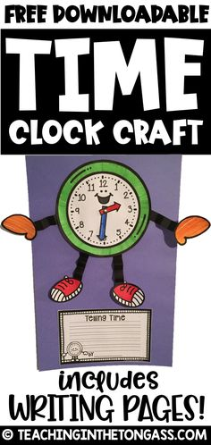 Students learning to tell time can make this clock craft with writing activity.