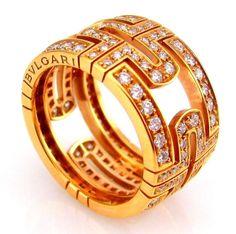 bvlgari parentesi diamond eternity band 18k rose gold estate ring fj bli bvlgari