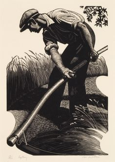 chasingtailfeathers:    missfolly:      Clare Leighton - Scything, 1935      Clare Leighton (1898 - 1989) English/American artist, writer and illustrator, best known for her wood engravings.