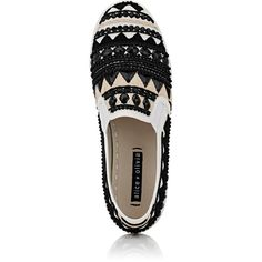 Alice & Olivia Women's Ava Slip-On Sneakers ($179) ❤ liked on Polyvore featuring shoes, sneakers, beaded shoes, pull-on sneakers, canvas sneakers, canvas shoes and slip-on shoes