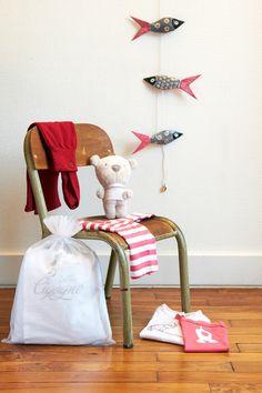 Chambre d'enfant -guirlande motif poisson