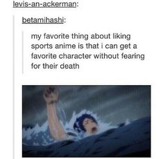 """In episode five I was like """"no stop ur not allowed to die stop drowning"""" and then Makoto went to save him and I thought it was all good but NO  they both almost die"""