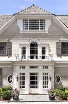 Stunning white shingled home by Catalano