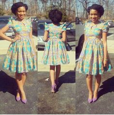 Most Adorable Short Ankara Gown Styles 2016 African Print Dresses, African Dresses For Women, African Wear, African Attire, African Fashion Dresses, African Women, African Prints, Nigerian Fashion, Ghanaian Fashion