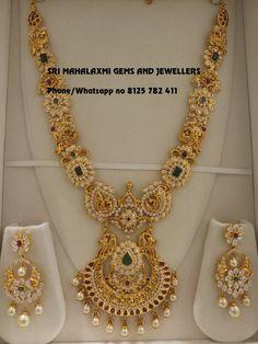 Bridal Earrings Long For Women 67 Ideas Gold Chain Design, Gold Jewellery Design, Gold Jewelry, Gold Necklace, Diamond Jewelry, Indian Jewelry Sets, India Jewelry, Ethnic Jewelry, Gold Earrings Designs