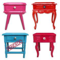 curto mto esses móveis antigos laqueados. da estudiogloria.com.br