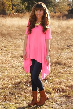We Run The Night Tunic: Neon Pink #shophopes