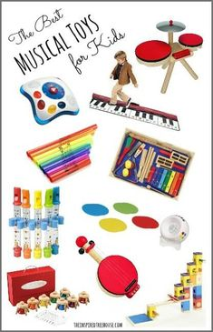 This site provides multiple ideas of musical toys for kids that can be included in an auditory sensory diet. Music Toys For Toddlers, Musical Toys For Kids, Kids Toys, Music Lessons For Kids, Music For Kids, Good Music, Piano Lessons, Sensory Toys, Sensory Diet