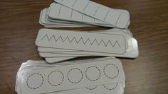 Stroke Cards....to Teach Kids Different Strokes Before they Start Writing Letters. Have them Trace with their fingers then dry erase markers.