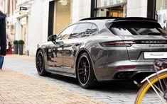 Porsche Autos, Porsche Cars, Panamera Sport Turismo, Porsche Panamera Turbo, Luxury Sports Cars, Aluminum Wallet, Sports Wagon, Power Cars, Car Car