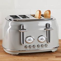 Retro 4 Slice Grey Toaster | Dunelm Kitchen Worktop, Kitchen Dining, Dining Room, Retro Appliances, Kitchen Appliances, Kitchens, White Kettle, Black Toaster, Vintage Decor