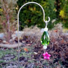 Miniature Fairy Garden Hummingbird Feeder - Green