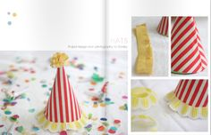 Fabric Party Hats: A Styled Feature | Say Yes