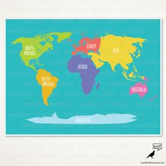 Letu0027s Have Adventures / World Map Poster / Boy By WordBirdShop, $13.75 |  Baby Boy Jones | Pinterest | Vintage Maps, Nursery And Room