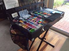 Good set up idea! Image from: Rascals Rosebuds face painting set up.