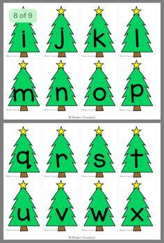 already printed this. Preschool Christmas Crafts, Christmas Math, Christmas Activities, Christmas Themes, Pre K Activities, Alphabet Activities, Preschool Literacy, Kindergarten, Advent