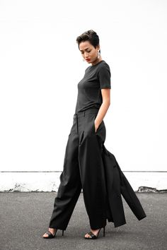 c60eec8c33b Black Wide Leg Trousers   Gianneli - Pre Fall Trends Of Summer Pre Fall  Apparel Wide leg leg Trousers leg Trousers Black leg Trousers Clothing leg  Trousers ...