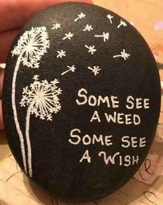 I always make a wish.. Easy Rock Painting Ideas For Fun | Childern | Kids | Art #rock #painting #paintart #fun