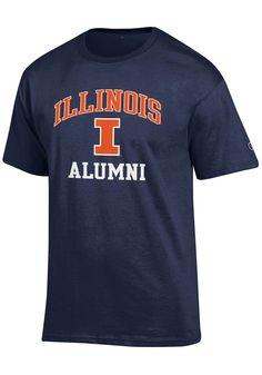 Team Sports Cheap Price Ncaa Illinois Fighting Illini Navy Blue Tshirt Tee Mens Adult Short Sleeve Sport